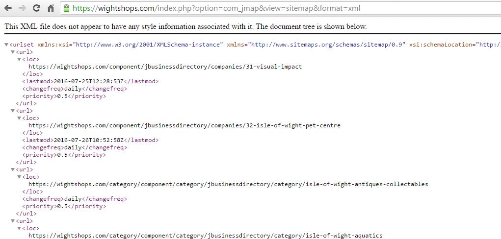 re xml sitemap display post 5581 joomla extensions store
