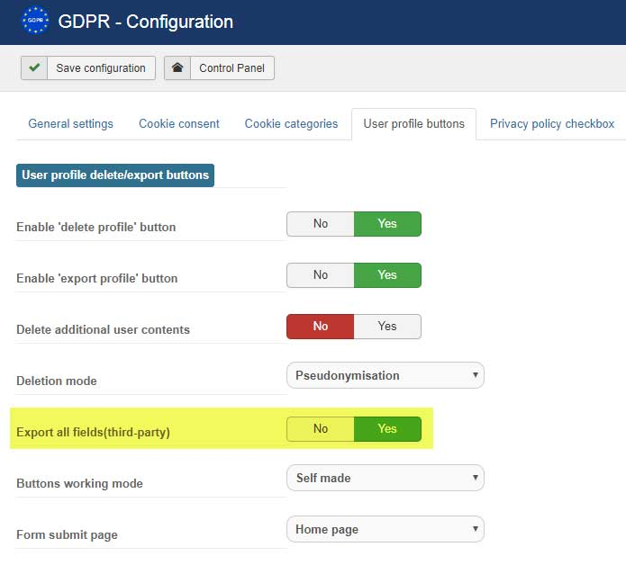gdpr form fields