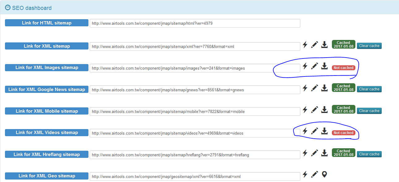 re jsitemap error forbidden message when generating image sitemap