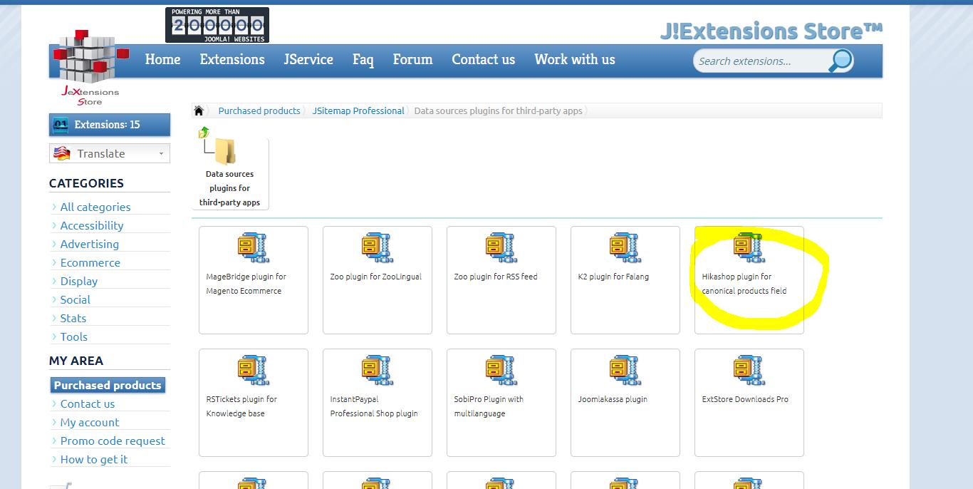 Re:URL for Hikashop - Post #7910 - Joomla! Extensions Store